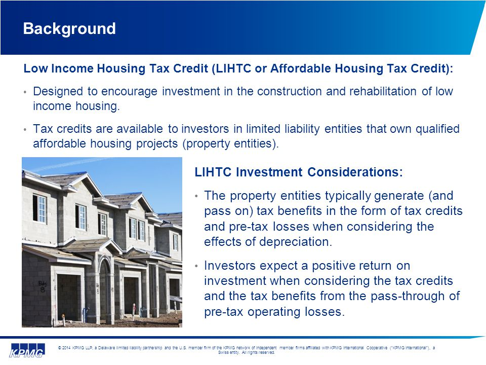 Background LIHTC Investment Considerations: