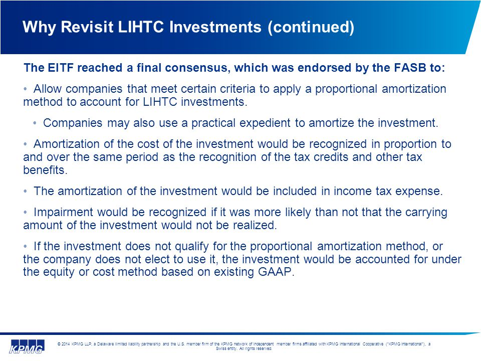 Why Revisit LIHTC Investments (continued)