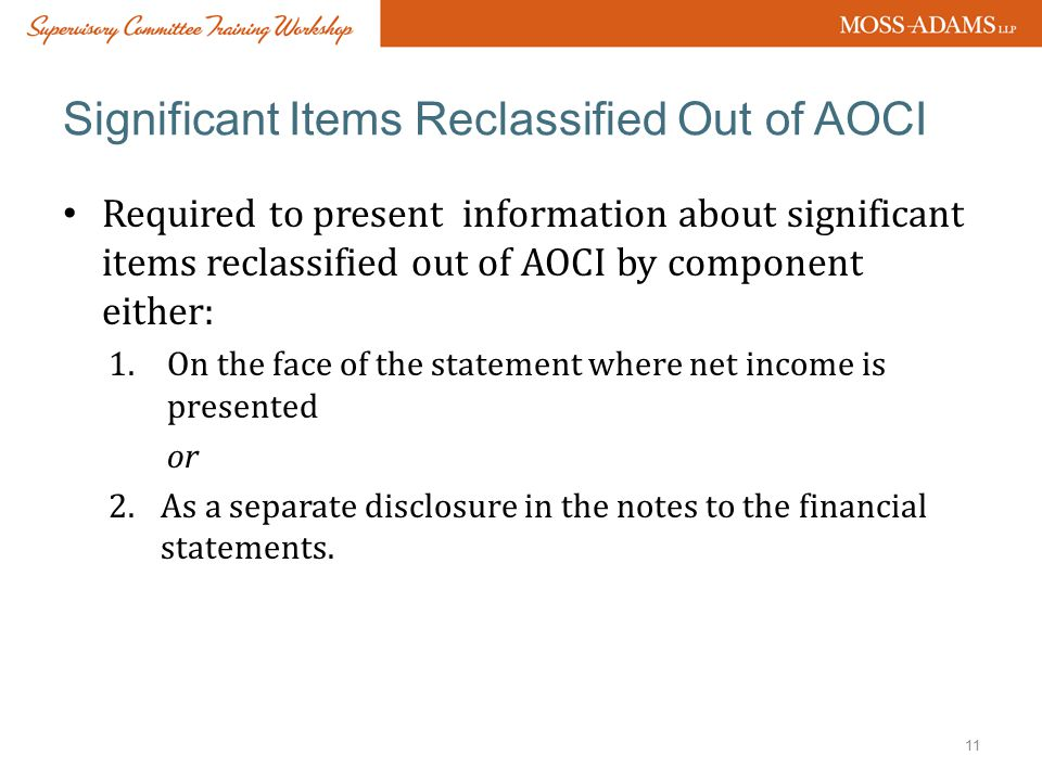 Significant Items Reclassified Out of AOCI