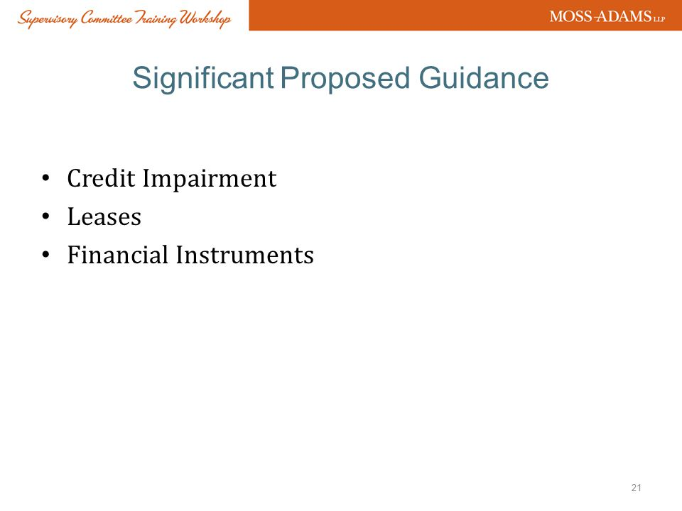 Significant Proposed Guidance