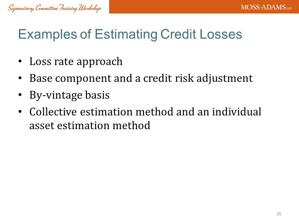 Examples of Estimating Credit Losses