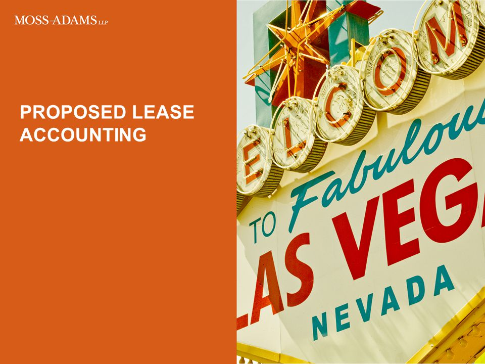 PROPOSED lease ACCOUNTING