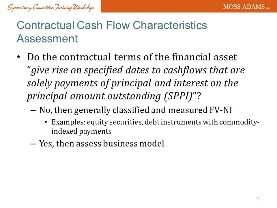 Contractual Cash Flow Characteristics Assessment