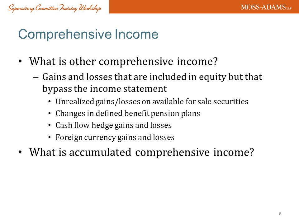 Comprehensive Income What is other comprehensive income