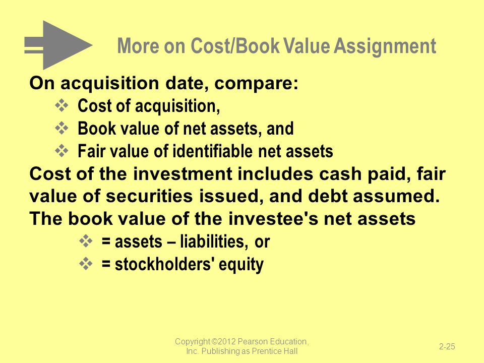 More on Cost/Book Value Assignment