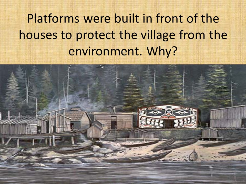 Platforms were built in front of the houses to protect the village from the environment. Why