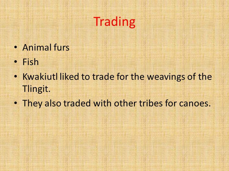 Trading Animal furs Fish