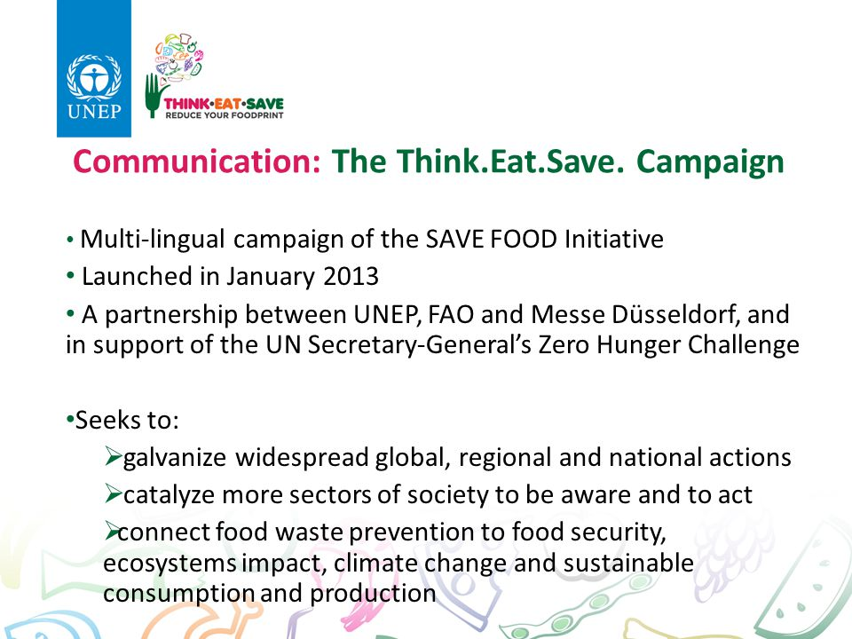 Communication: The Think.Eat.Save. Campaign