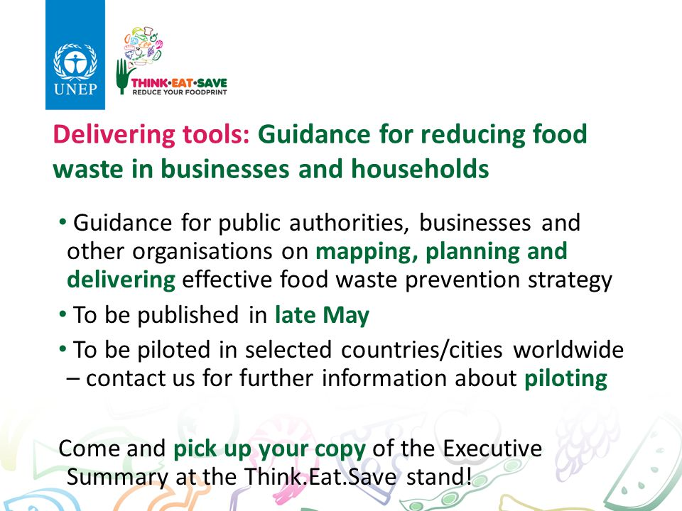 Delivering tools: Guidance for reducing food waste in businesses and households