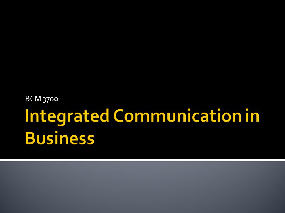 Integrated Communication in Business