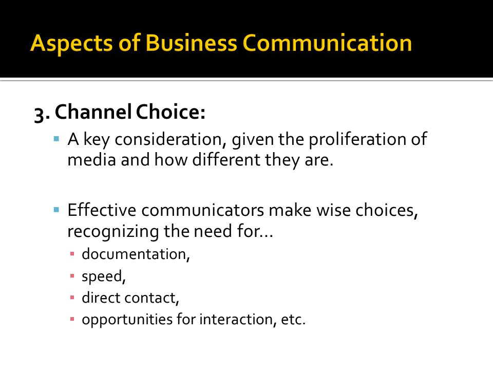 Aspects of Business Communication