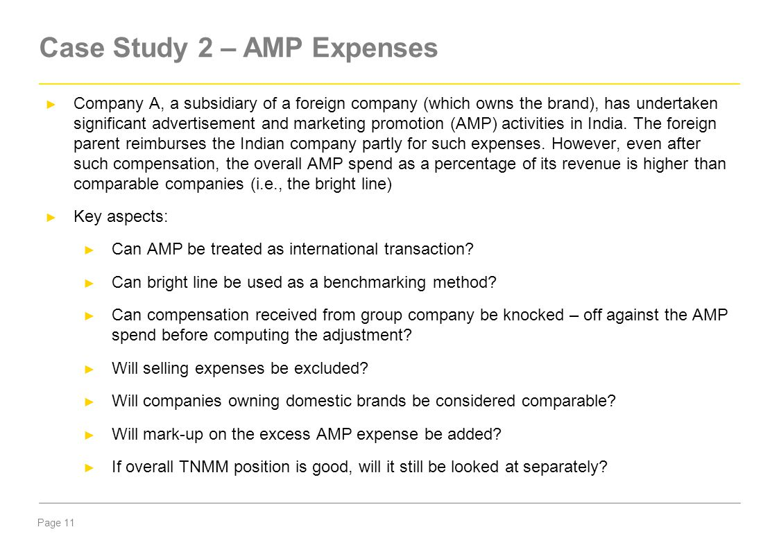 Case Study 2 – AMP Expenses