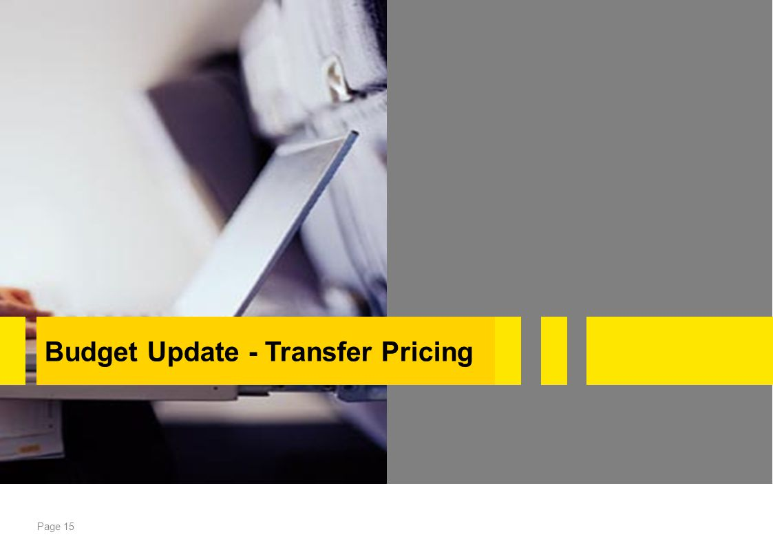 Budget Update - Transfer Pricing