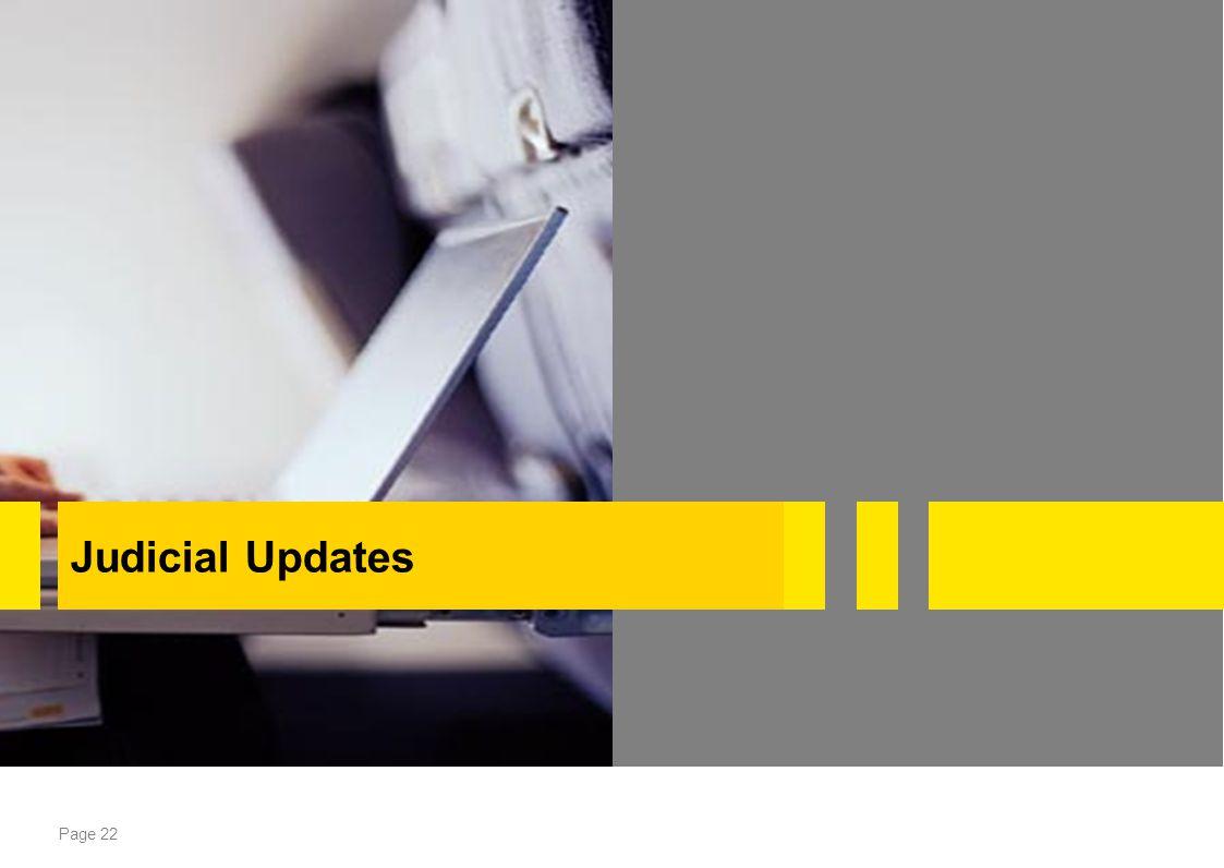 Judicial Updates