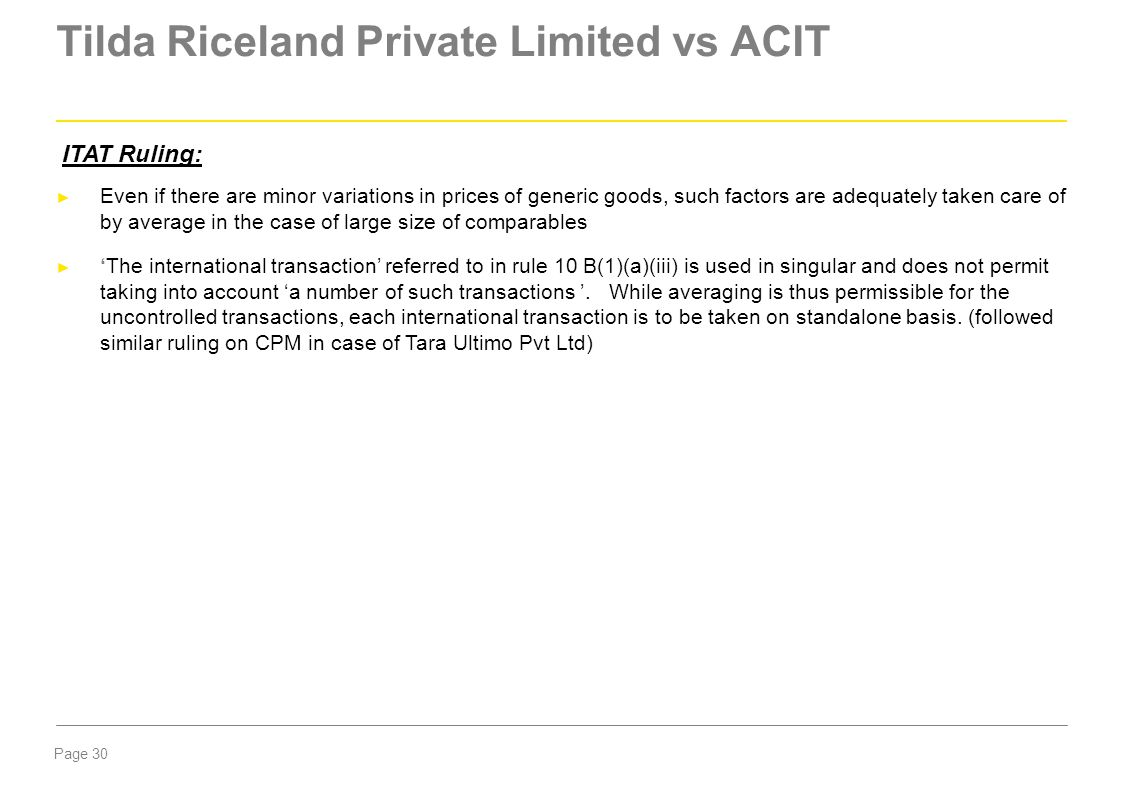 Tilda Riceland Private Limited vs ACIT