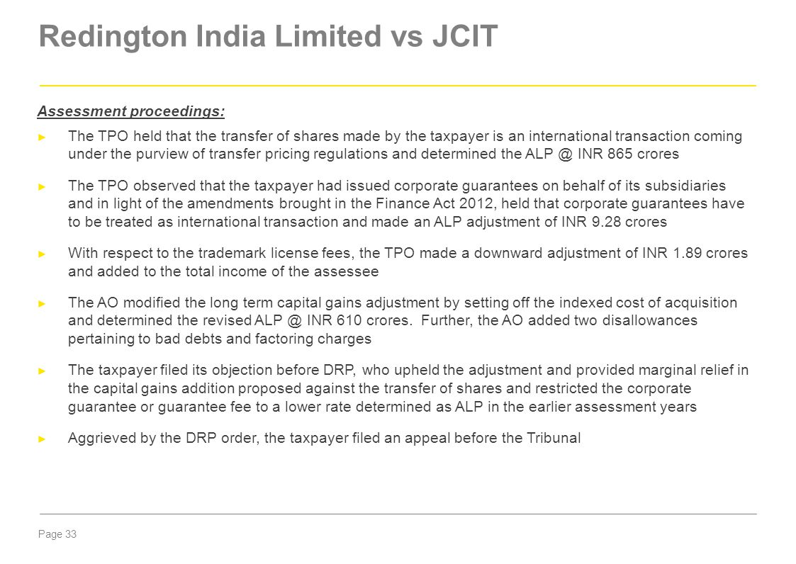 Redington India Limited vs JCIT