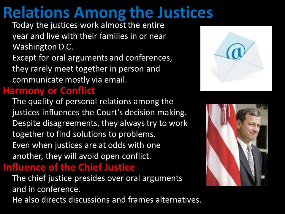 Relations Among the Justices