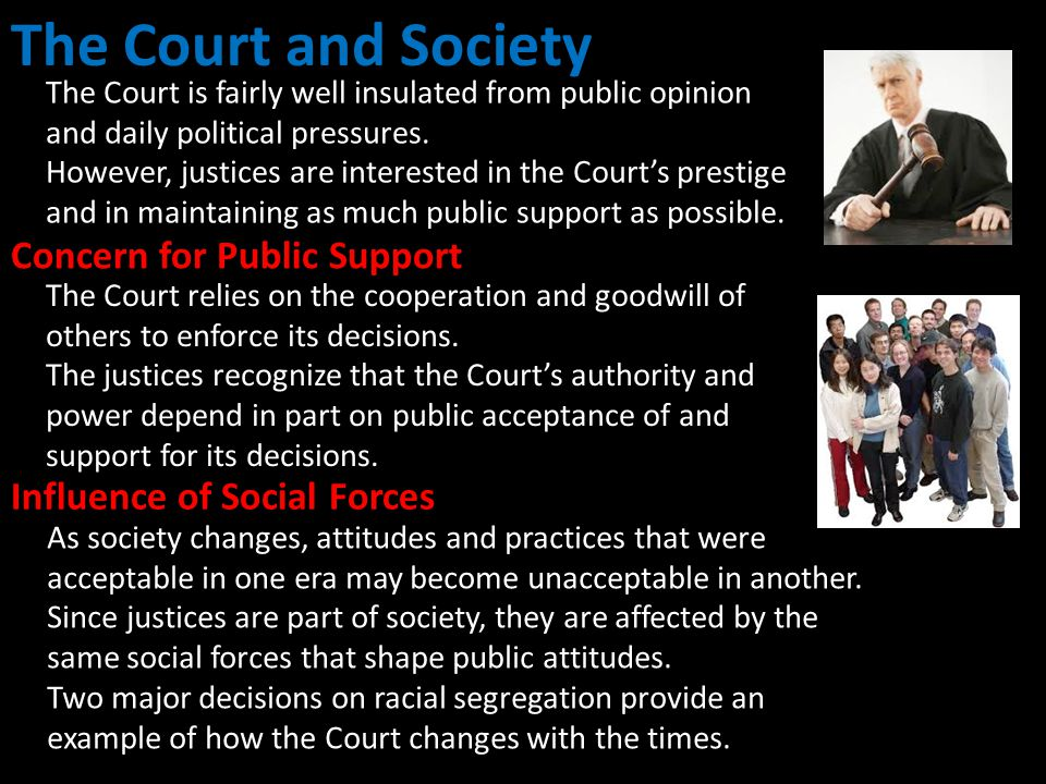 The Court and Society Concern for Public Support