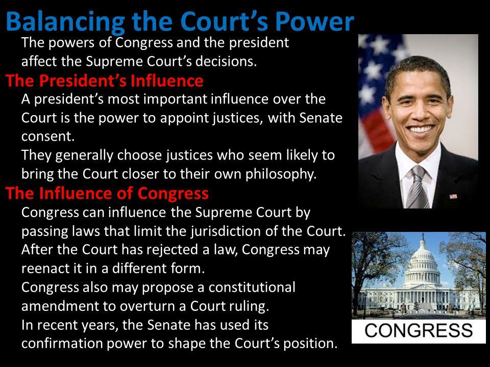 Balancing the Court's Power