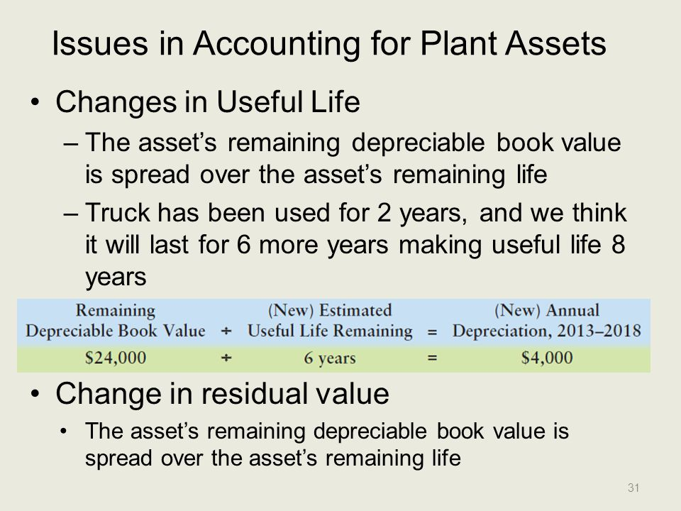 Issues in Accounting for Plant Assets