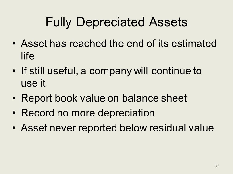 Fully Depreciated Assets