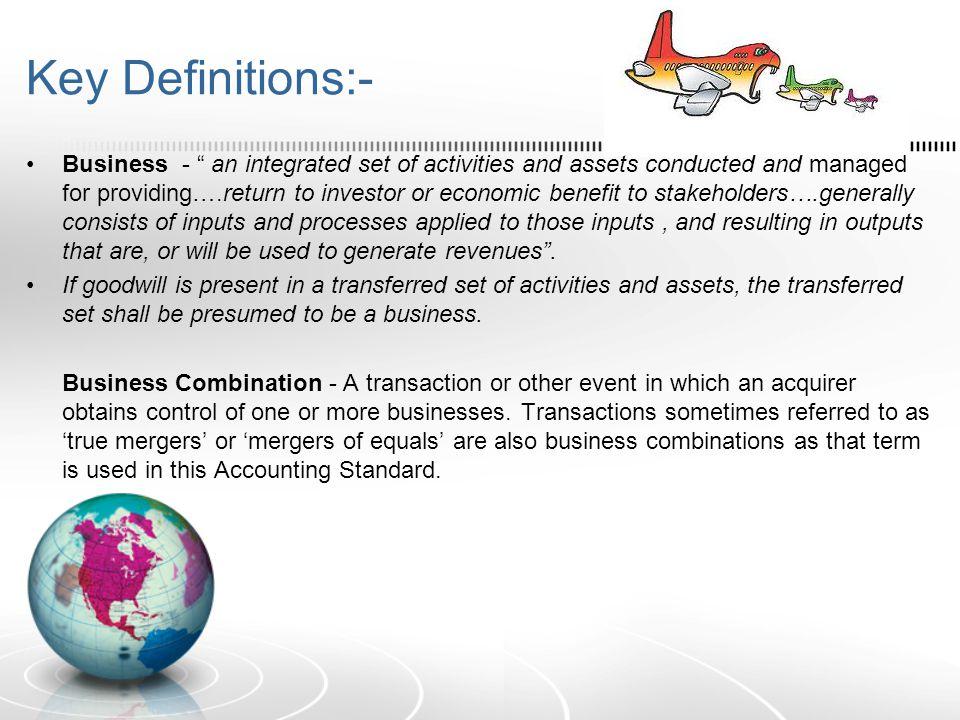 Key Definitions:-