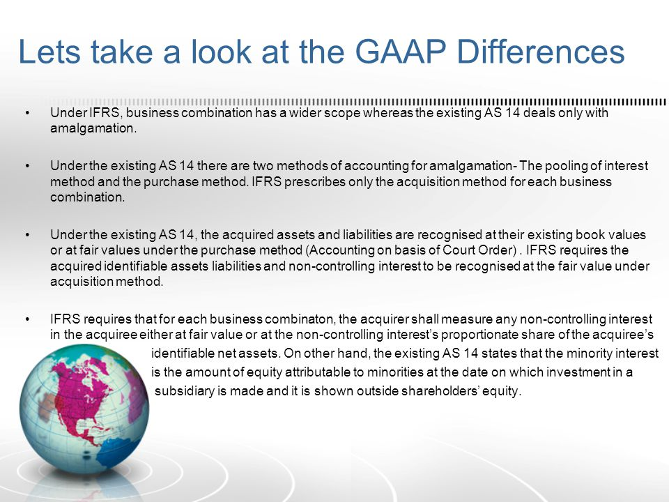Lets take a look at the GAAP Differences