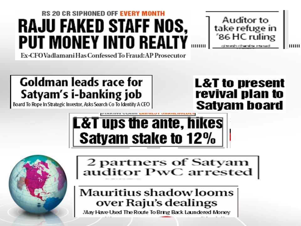 Raju also inflated the number of employees and drew 20 crores every month to buy false assets.