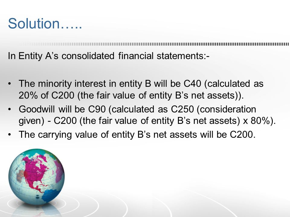 Solution….. In Entity A's consolidated financial statements:-