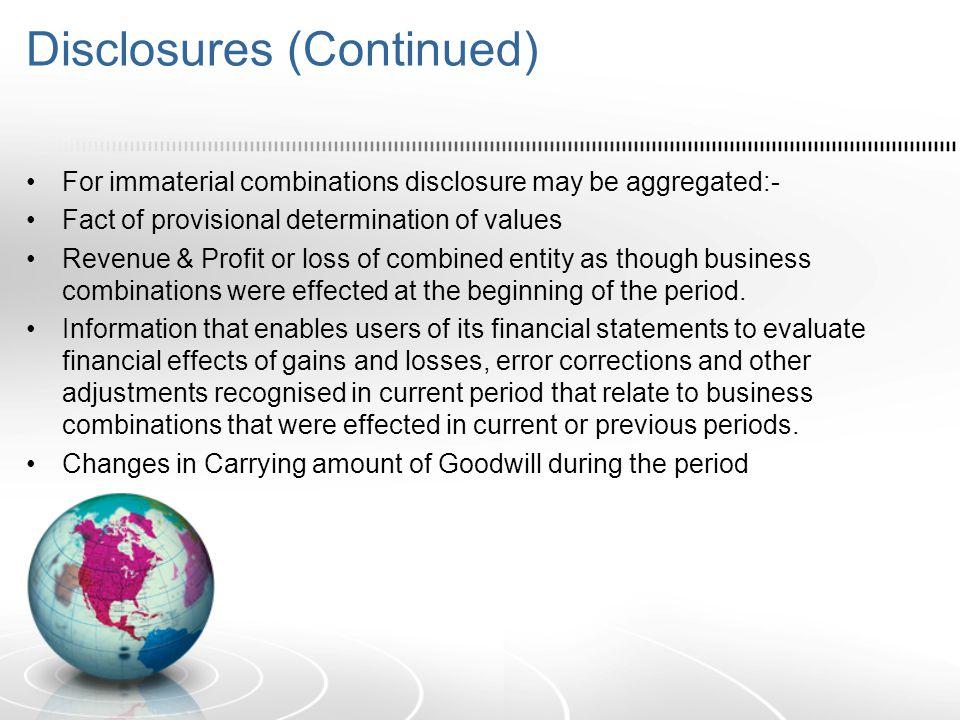 Disclosures (Continued)