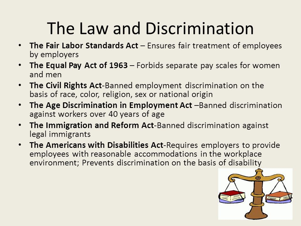 The Law and Discrimination