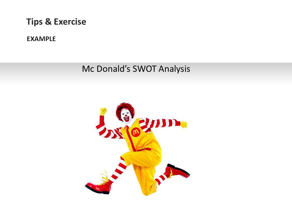 Mc Donald's SWOT Analysis