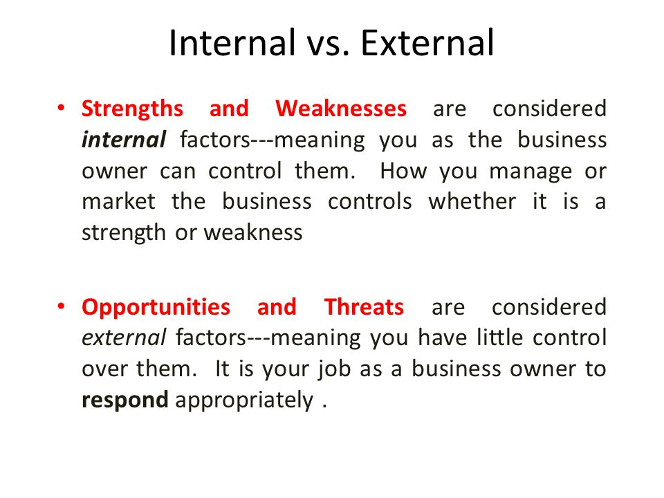 bakery external internal threats This whole foods market swot analysis and case study shows strengths, weaknesses, opportunities and threats (internal and external factors) in the business.