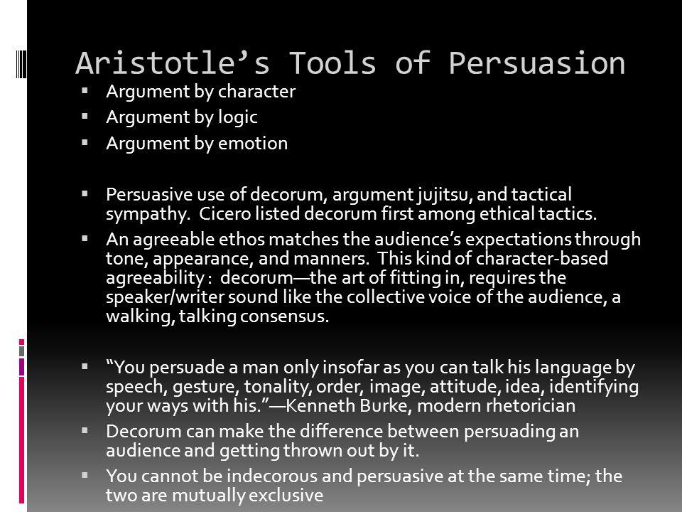Aristotle's Tools of Persuasion