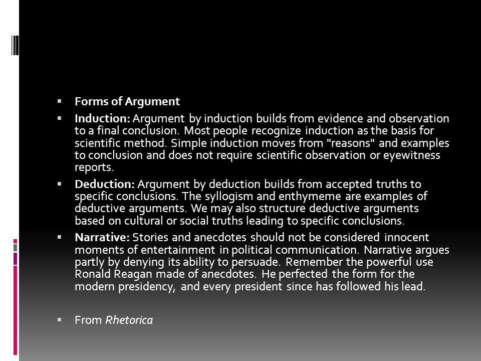 Forms of Argument