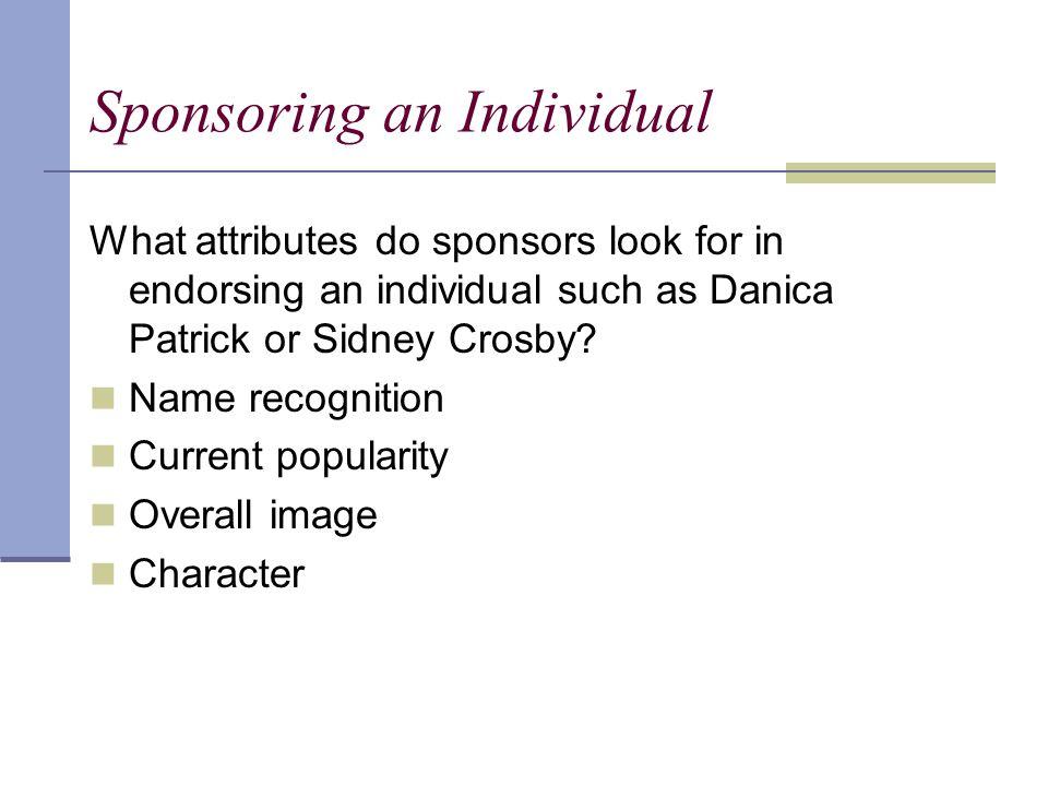 Sponsoring an Individual