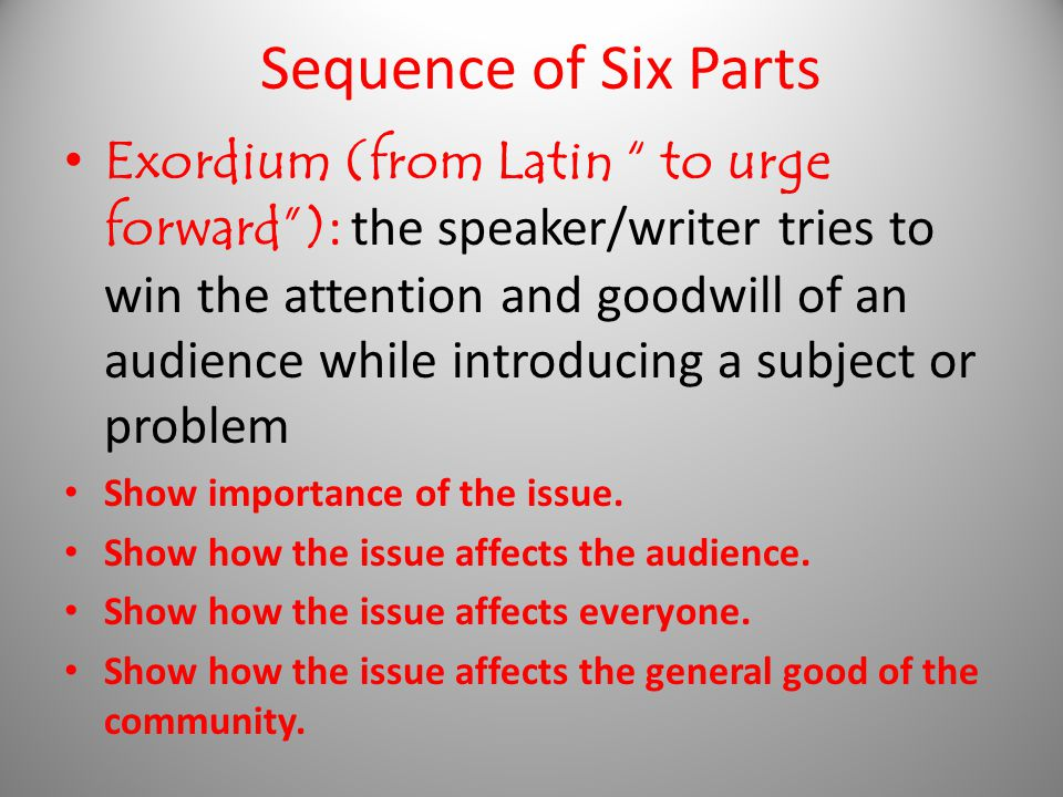 Sequence of Six Parts