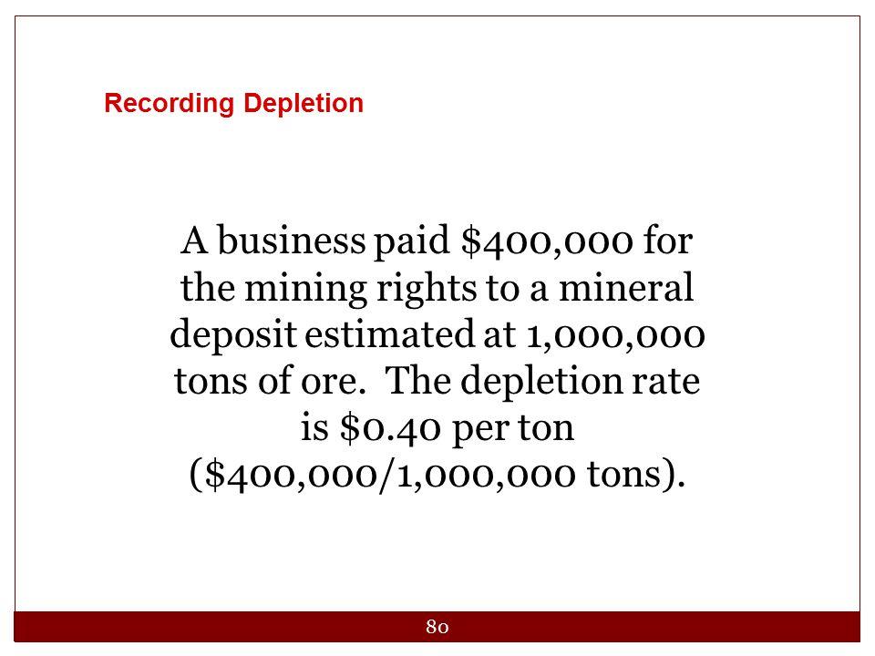 Recording Depletion