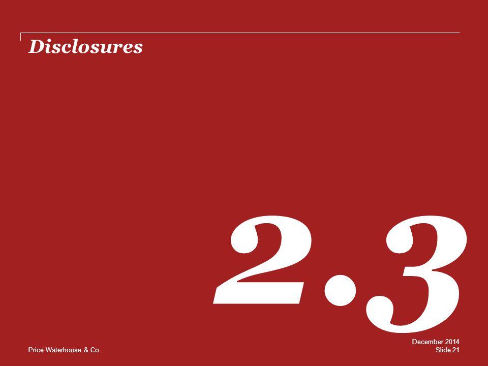 Disclosures 2.3 December 2014