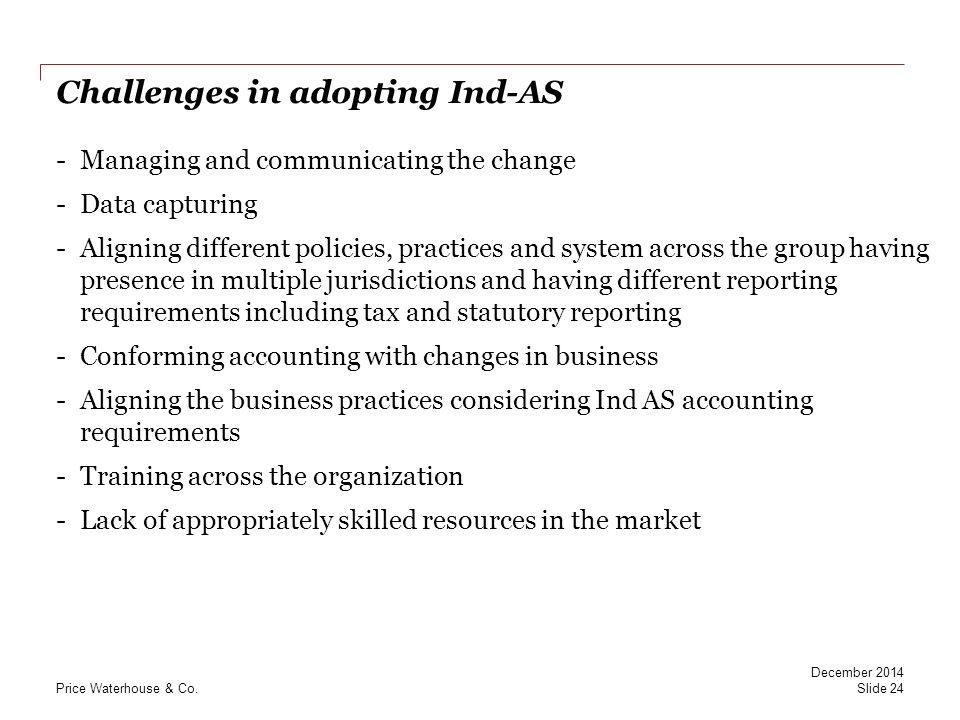 Challenges in adopting Ind-AS