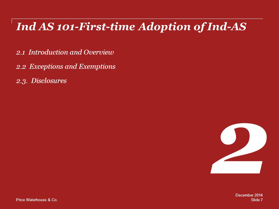 Ind AS 101-First-time Adoption of Ind-AS