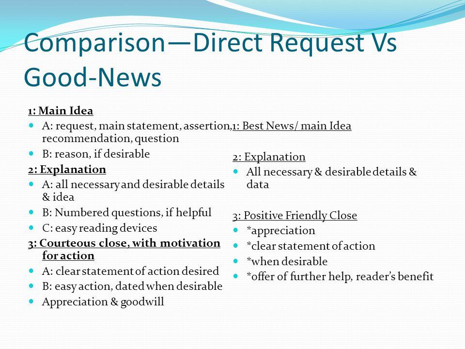 Comparison—Direct Request Vs Good-News