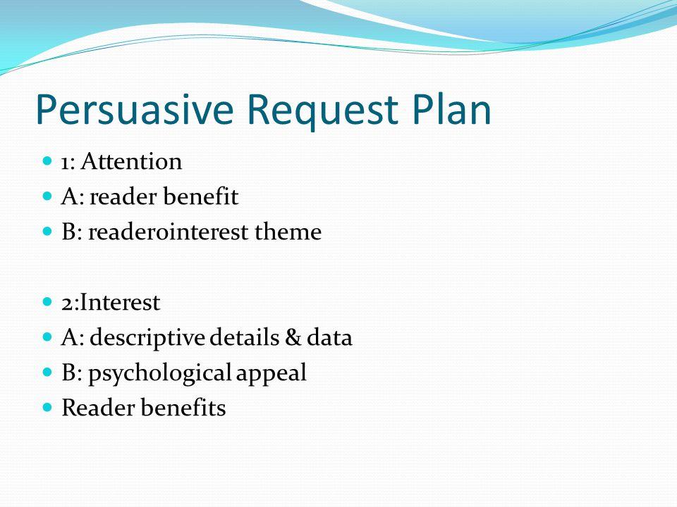 Persuasive Request Plan