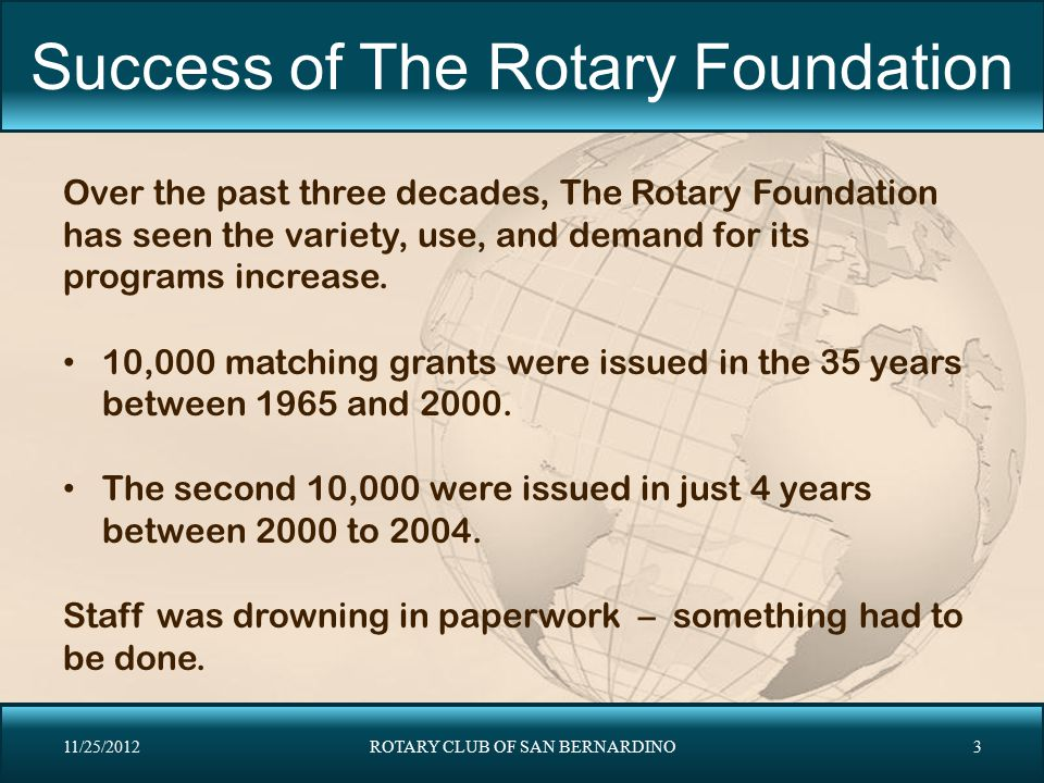 Success of The Rotary Foundation