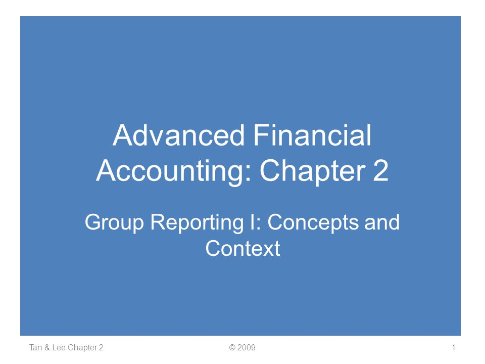 Advanced Financial Accounting: Chapter 2