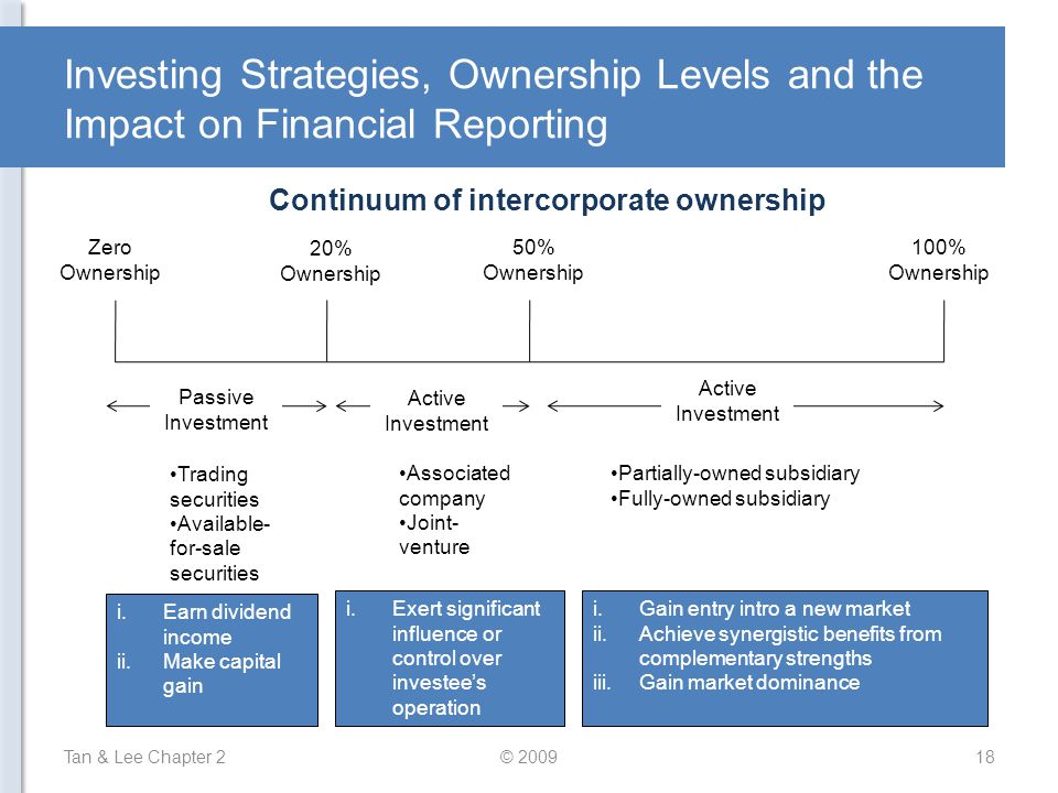 Continuum of intercorporate ownership