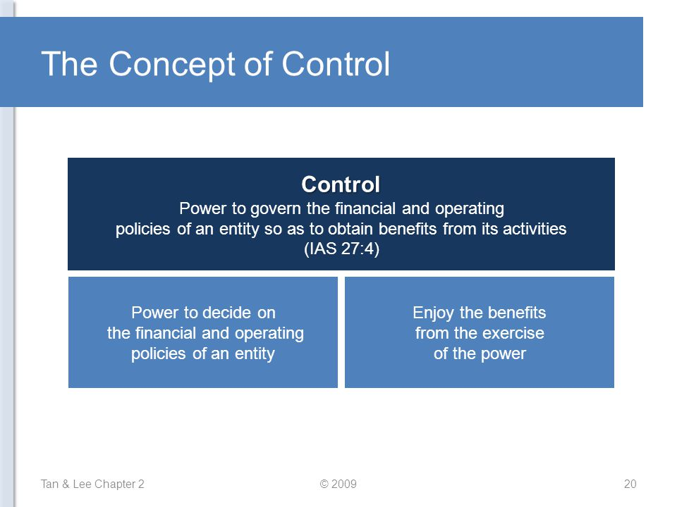 The Concept of Control Control