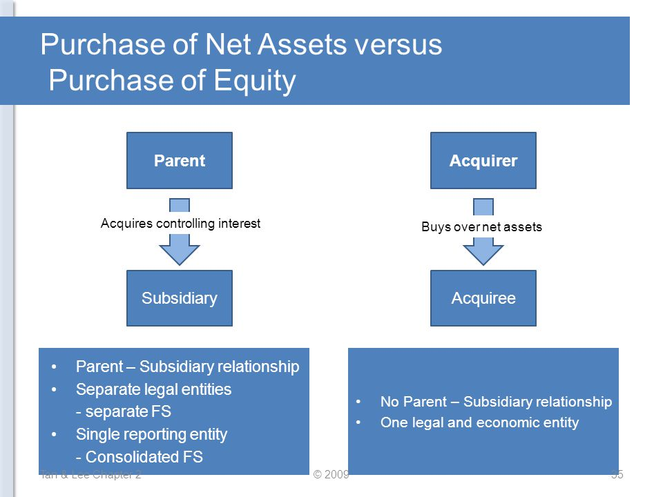Purchase of Net Assets versus Purchase of Equity