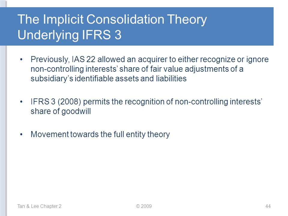 The Implicit Consolidation Theory Underlying IFRS 3