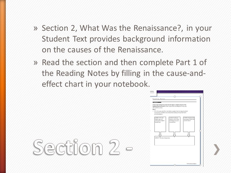 Section 2, What Was the Renaissance
